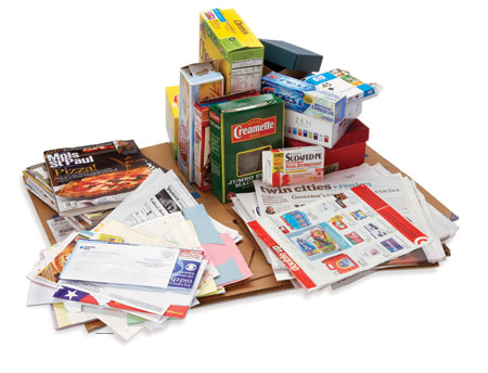 Recyclable paper products
