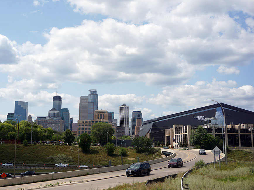 35W at 94 project location facing the US Bank stadium