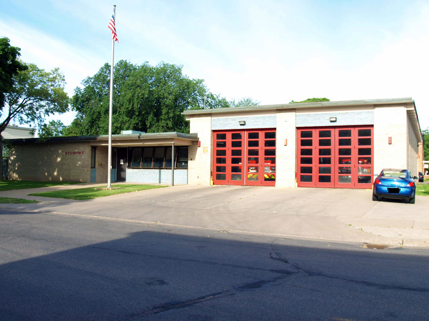 front side of fire station building
