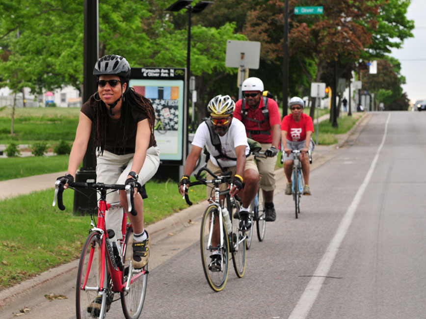 North Minneapolis residents biking
